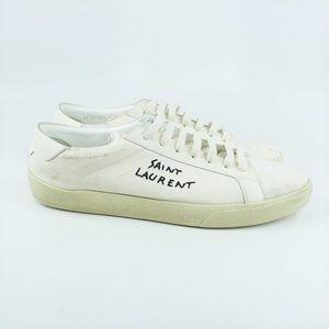 Saint Laurent Distressed Court Classic Sneaker 47